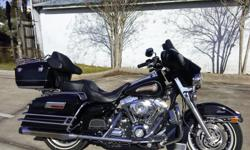 """I currently have a 2007 Harley Davidson Electra Glide for sale. This bike is a 96"""", 6 speed that is clean and runs strong. We just did a light service including changing all 3 oils. In addition to all the standard equipment already included on the Electra"""