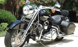 2007 Harley Davidson Road King Custom Touring FLHRS Black Mint Loaded Low Miles.