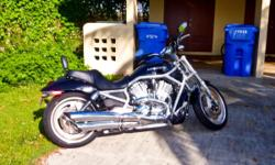 2007 HD V-Rod VRSCAW (Black/Chrome). Bike has 1,199 original miles ( yes 1,200 miles). This bike looks and runs great. The bike has some oxidization on the controls and on some of the chrome throughout the bike. Elite touring seat