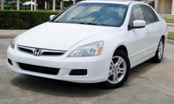 INTRODUCING THE 2007 HONDA ACCORD EX-L SEDAN! IT IS LOADED WITH OPTIONS SUCH AS POWER WINDOWS AND LOCKS, POWER SUNROOF, POWER MIRRORS, DUAL POWER HEATED SEATS, CRUISE CONTROL, A/C WITH CLIMATE CONTROL, DUAL FRONT, SIDE & CURTAIN AIRBAGS, AND MORE! THE