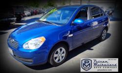 2007 Hyundai Accent GLS Sedan  automatic rear spoiler am/fm stereo w CD dual air bags side air bags air conditioning power steering steel wheels 164k miles  $4995.00  #099568 stk 2555 Visit our website: pmautoco.com - See more at:
