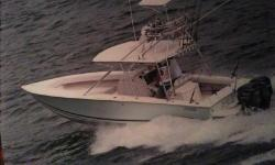Purchased in 2008, Full tower, Upper controls, Twin Yamaha 250's, 260 fuel capacity, Autopilot, Power assisted steering, 2 live wells, 60 gallon fresh water capacity, Wash down system, Stand up shower, Small sink, Trim tabs, Bimini FRP hard top, Low