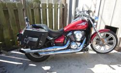 For Sale 2007 Kawasaki Vulcan 900 Custom - Cruiser Great Condition LOW MILEAGE!!!!! Only 14,698 Miles Brand New Saddle Bags ? Half Windshield Asking $4,500.00 O.B.O. IDENTIFICATION Type: Cruiser ENGINE Displacement (cc): 903 Engine Type: