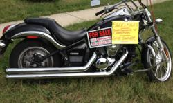 2007 KAWASAKI VULCAN CUSTOM 900 + POWER COMMAND (which increases power by 10%) LONG CHROME COBRA PIPES (Loud). CHROME ENGINE GUARDS which both were installed at the time of purchase by the dealer New!. 5 Gallon Tank, ONE OWNER-Never laid down, Accident