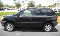 Stock #: 1025 VIN#: KNDJF724377359615 Year: 2007 Make: Kia Model: Sportage Trim: LX I4 2WD Interior: Cloth Vehicle Type: SUV Color: Black Transmission: Automatic Engine: 2.0L L4 DOHC 16V Drive Train: RWD Mileage: 103,235 super clean car ice cold air good