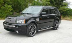 2007 Range Sport Supercharged. Black on Black with just over 52,000 miles.  Navigation, Rear Seat Entertainment, Harmon Kardon Stereo, Wood Trimmed Steering Wheel, Lined Oak Interior Trim, Rear Parking Sensors, Power Seats, Windows, and Sunroof.