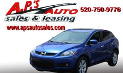 MORE PICS AND INFO (520) 750-9776 A.P'S Auto Sales 3747 E. Speedway Blvd. Tucson, AZ 85716 2007 Mazda CX-7 4-Door SUV Interior Color: Black Fuel: Gasoline VIN: JM3ER293070136070 Mileage: 72,644 Exterior Color: Blue Transmission: Automatic Engine: I4 2.3L