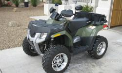 2007 Polaris Hawkeye 300 2 wheel drive, ITP SS wheels, hand guards, storage bag, atv cover, atv is like new with only 263 miles and 21 hours. $2500 OBO Call 561-992-1071