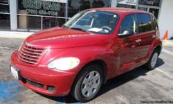 WOW! EXCELLENT CONDITION CHERRY RED TINTED WINDOWS PT CRUISER...5 SPEED MANUAL GREAT MILES TO THE GALLON! FRESH START MOTORS IS AN USED CAR DEALERSHIP, WE TAKE PRIDE IN HELPING THOSE WITH CREDIT ISSUES. ALL OUR VEHICLES ARE MOSTLY ONE OR TWO OWNER CAR FAX