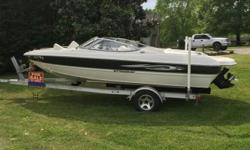 Excellent condition. Very well maintained. In board out board,84 hours..19.5Length. 190 HP. Gas..White/Black..White Interior. For more info call-757-630-2666.