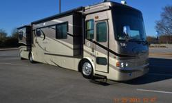 2007 Tiffin Allegro Bus,40QSP, Freightliner Chassis,400HP Cummins,Diesel Engine With Exhaust Brake And Side Radiator, 6 Speed Allison Automatic Transmission, 21,594 Miles, 4 Slideouts,10 awnings,6 sleep capacity GPS Navigation, Back Up Camera With Side