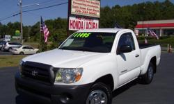 2007 Toyota Tacoma. 54,000 Miles!!New Tires and fully serviced. Call Dean 770-237-5542 or visit www.RonsAutoSalesGA.com. Clean AutoCheck vehicle report! We earn your business by bringing accountability, creditability & integrity to the sale. At Ron's,