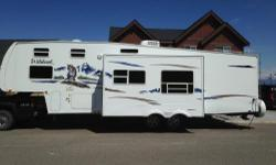 Awesome and Excellent Condition 5th Wheel, Nice Front Bunk House Model, Rear Bedroom With Half Bath. INTERIOR FEATURES: Carpet, Full Kitchen, Top/Bottom Fridge, Microwave, Shower, Skylight, TV, DVD, CD/Cassette, Sound System, Day/Night Shades, Fantastic