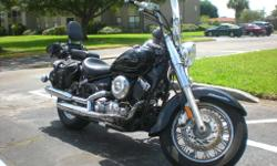 This 2007 Yamaha V Star 650 Classic is like new, has 12k miles rus and drives amazing. Brand new tires. Lots of acessories, radar detector, windshield, side bags, etc. It has never been in an accident or even dropped. Bring your mechanic. Clean title.