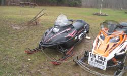 2008 ARTIC CAT F-5, 219 MILES, 15 1/2 HOURS. INCLUDED IS COVER, STAND, HELMET WITH HEAT SHEILD. ASKING $4100.00 OR B/O. I ALSO HAVE A 1997 V-MAX XT500 WITH 1603 MILES, ASKING $1100.00 OR B/O