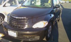 2008 Black Chrysler PT Cruiser with only 48,133 miles (still under factory warranty)! Gas-saving 4-cylinder engine and loaded with power windows, power locks, til wheel, cd player, a/c and heater, automatic, spacious seating for 5, unique styling on