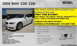 Gonzalo Rodriguez 210-255-7385  We have high quality vehicles in our inventory and affordable prices for everyone, we have different brands of vehicles. We also work with different finance companies and banks that offer second chance financing, IF