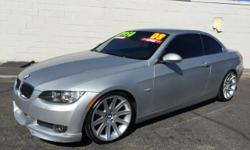 Silver 2008 BMW 328i Convertible, Hardtop for sale in Tucson, AZ. 84,465 miles, black interior. For more information visit our website at www.azdrivellc.com.