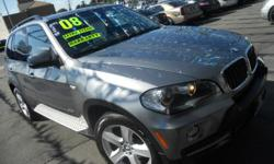 Welcome to 562 Auto Exchange 13110 Lakewood Blvd Bellflower Ca 90262. Come on in and look at this beautiful dark gray 2008 BMW X5 with a black interior, ABS, power window, power door locks, power sterring, adjustable sterring wheel, prium sounds, power