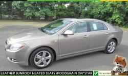 ***SPECTACULAR*** This Malibu comes equipped with TWO TONE BLACK AND BROWN LEATHER INTERIOR, WOODGRAIN TRIM, DUAL POWER HEATED SEATS, POWER SUNROOF, ON*STAR, ADJUSTABLE PEDALS, FOG LIGHTS, LEATHER WRAPPED STEERING WHEEL, BLUETOOTH HOOKUP, PADDLE SHIFTERS,
