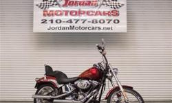 2008 Harley Davidson Soft Tail Custom w. Limited Edition Paint #21 of 75 and only 1500 miles! **** SAVE THOUSANDS!! **** This is a gorgeous bike with all the right looks, and from the factory with a very cool flame metallic cherry paint. This is #21 of