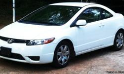 2008 Honda Civic LX Coupe AutomaticWhite ext/ Tan intNon-smokerOnly owner 73,000 milesI've been the only owner of this car & I have kept all services/maintenance records. It has never been wrecked. The front bumper needs a small paint touch up which I can