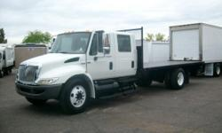 4364-p 2008 international 4300 crew cab..ONLTY 51,000 MILES dt466 turbo diesel 245 horse..allsion 2500..UNDER CDL.. hd 5 speed auto rated for 33,000..gvw is 25950 air brakes air seat..pow wind locks cd player cruise control tilt wheel..22.5 tires..doc