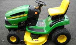 2008 JOHN DEERE LA125 -21 HP AUTO 78 HRS 42 IN DECK $1100.00NEW CONDITION WILL DELIVER FOR A SMALL FEE CALL --