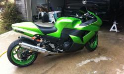 For Sale for 2600 USD 2008 Kawasaki Ninja ZX-14 1400cc Lime Green Sports Bike in Like New condition with just 7,927 miles. This is about the Best ZX-14 you'll find for sale, Immensely cared for, Everything on it is perfect.Both tires have 90% Tread.