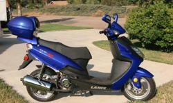 Showroom new condition. Perfect for Campus, Beach, Around Town Model GS-R 150 cc. Great gas mileage at 65 to 80 mpg, Cruises steadily at 45 to 50 mph, Fully Automatic, Fun and easy to ride ABS Disc Front Brake, 4 stroke air cooled Brilliant Royal Blue,