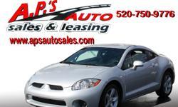 CLICK HERE FOR MORE IMAGES AND INFO: http://www.apsautosales.com/vehicle-details/440d40a1e15b44bf9988810540edc16d (520) 750-9776 A.P'S Auto Sales 3747 E. Speedway Blvd. Tucson, AZ 85716 2008 Mitsubishi Eclipse 2-Door Hatchback Title: Clear Fuel: Gasoline