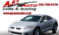 CLICK HERE FOR MORE IMAGES AND INFO: http://www.apsautosales.com/vehicle-details/440d40a1e15b44bf9988810540edc16d (520) 750-9776 A.P'S Auto Sales 3747 E. Speedway Blvd. Tucson, AZ 85716 2008 Mitsubishi Eclipse 2-Door Hatchback Title: Clear Fuel: Gasoline