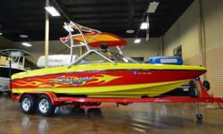 2008 Sanger V-215 V Drive Open Bow Wake Board Edition Boat Vin#: SANRX302F708 Trailer Vin#: 4FBBC212681018102 CLEAN AND CLEAR TITLE! Runs and Drives Great, Normal wear and tear, Tested and Inspected, Great Looking Boat!  text for further details and