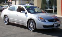 Sterling silver 08 Nissan Altima with only 42,000 miles and beautiful chrome rims! This fan-favorite is loaded with everything you've come to expect from Nissan including a gas-saving engine that will save you money at the pump and give you more mpgs,