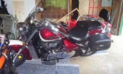 2008 C50T, 1200 miles always garaged with a nice cover. Red and White in color, Saddle Bags, Windshield, running boards, backrest, must been seen! THIS BIKE IS SHOWROOM CONDITION! I just don't ride it and its taking up valuable space. You may use my