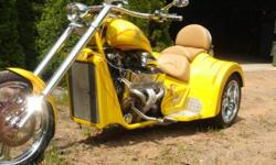 V8 Chopper Trike. This bike has been well cared for. Bought for my wife. Low miles and great shape. Has LED lighting underneath and around motor, they blink fast,slow and change colors. 520 hp with a Dart 400 CI engine chromed out. Has Nitros tank for