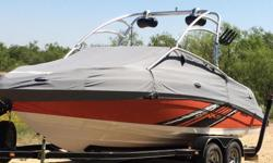 Twin jet engine has just had a full check up and oil change have documentation to prove. Includes life jackets, two wake boards, ropes, tubes, and other variouse items. Wake tower and sound system.