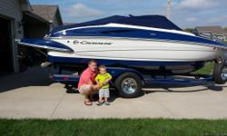 2009 Crownline 200 LS MerCruiser 5.0 TKS 220 Horsepower with Alpha One drive. Only 162 hours!  5 Blade Stainless Steel Merc high Five Blade Prop, Smart Tabs, Swim Platform with Boarding Ladder, Front Boarding Ladder, Deluxe Sony Stereo with CD