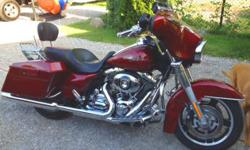 2009 Harley Davidson - Street Glide (FLHX) Clean Bike, runs great, rides great, no issues, dripping with chrome. 37,500 miles. Michigan Clean Title in hand. - Red Hot SunGlo - Willie G Skull Collection Accessories - Quick Release Acccessory Dock -
