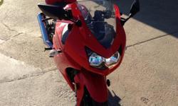 2009 red Kawasaki Ninja 250 with 500 miles. MUST SELL! Changed oil every year, nice bike!