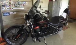 Cudtom Special Edition, Ebony, Guvi windshield, passenger backrest, engine protection bars. Less than 4500 miles, excellent shape, runs great. Never wrecked, garage kept.
