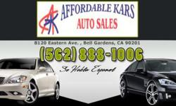 Affordable Kars Auto Sales Af4090 . True Price: $6495 Exterior Color: Silver Interior Color: Gray - Cloth Fuel Type: 14G / Gasoline Drivetrain: Front Wheel Drive Transmission: Automatic Engine: 2.0L 4 Cylinder Engine Doors: 4 Dr Bodystyle: Sedan Type /