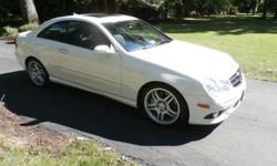 2009 Mercedes CLK 550, coupe, loaded, AMG package, tinted windows, garage kept, white with black interior, 65K miles.  Call 757-377-5132.