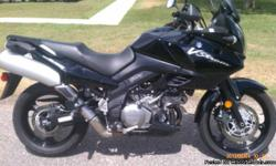I currently have a 2009 Suzuki V-Strom 1000 also known as the DL 1000 for sale. This bike has 11,000 miles on it. It is a 2 owner bike. It is all stock and has not been modified in any way. The bike has new tires and runs and rides perfectly. This is a