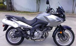 I currently have a 2009 Suzuki V-Strom 650 Abs for sale. This bike is a one owner with 3462 miles on it . It is all stock and looks showroom new. The bike was a daily commuter for the previous owner who only commuted @ 4 miles per day. This bike has a