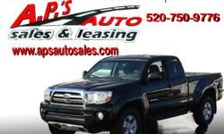 CLICK HERE FOR MORE INFO: http://www.apsautosales.com/vehicle-details/e3aa092681df4e2ab976c95d9f738d82 (520) 750-9776 A.P'S Auto Sales 3747 E. Speedway Blvd. Tucson, AZ 85716 2009 Toyota Tacoma V6 4-Door Truck Exterior Color: Black VIN: 5TEUU42N19Z658574