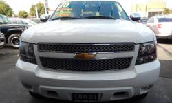 Come in and take a look at this gorgoues white2010 Chevy TahoeLsblack interior 5.8L, 8Cylinderswith rear defrost, A/C, rear A/C, ABS, Heated Mirrors,AM/FMstereo, cruise control, power windows, power door
