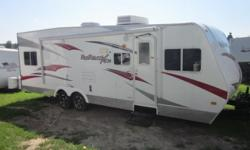 Just bought last year, used 4-5 times total. It has all the standards that come on it, plus an additional queen size bed in the garage area. Making a total of 3 queen size and 1 twin size bed. Sleep's 7 adults comfortably It is fully stocked with