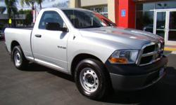 Almost new 2010 silver Dodge Ram 1500 - this car has barely been driven! Regular cab, 6-foot bed, v6 3.7 engine with automatic transmission, and comes loaded with everything you'd want - AM/FM/Satellite radio, CD/MP3 player, hands-free Bluetooth, power