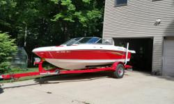 FOUR WINNS H180, 2010 model, One owner in like new condition. Powered by 4.3 L, 190 HP Volvo Penta. Extended swim platform with ladder for easy entry in the water. Sony sound system with 4 speakers. Bow and cockpit covers. Custom built trailer with side